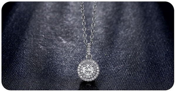 Rose Gold Muti Cubic Zirconia Round Long Chain Pendant Necklace - The Best Accessory