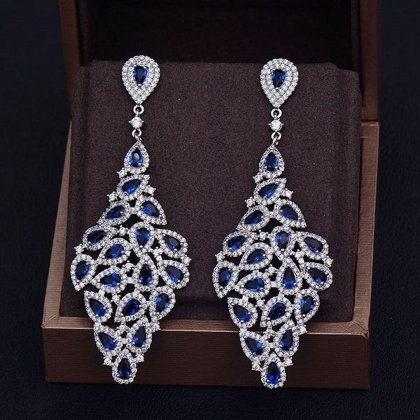 Luxurious Sparkling Statement Drop Earrings