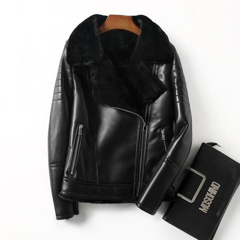 Exquisite Buttery Fur Lined Genuine Leather Jacket - The Best Accessory