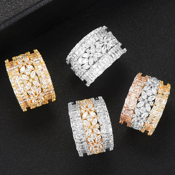 Luxury Geometry Bold Statement Rings Cubic Zirconia CZ Accessories Rings - The Best Accessory