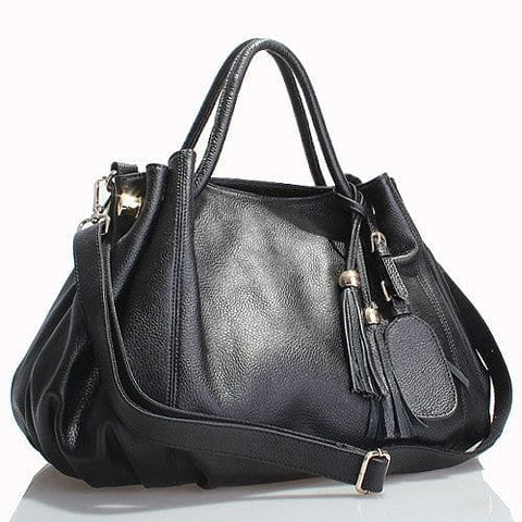 Beautiful Italian Grain Leather Handbag - The Best Accessory