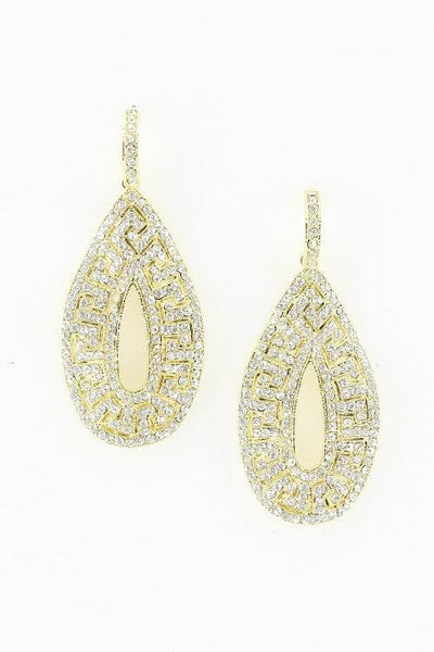 Gold Filigree & Crystal Earrings - The Best Accessory