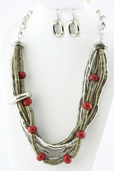 Chain&Metal Coil Necklace Set Necklace - The Best Accessory