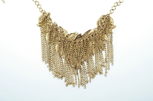 Leaf Chain and Crystal Statment Necklace - The Best Accessory  - 3