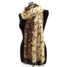 Paisley Pattern Border Crinkled Pashmina - The Best Accessory