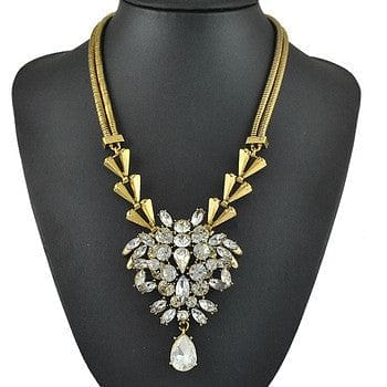 Vintage Gold and Crystal Statement Necklace - The Best Accessory