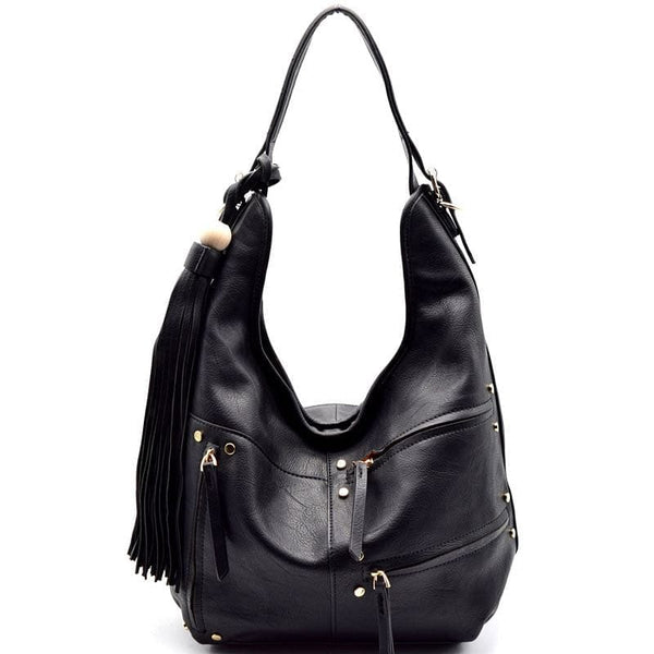 Tassel Accent Multi Zipper Decorated Hobo - The Best Accessory