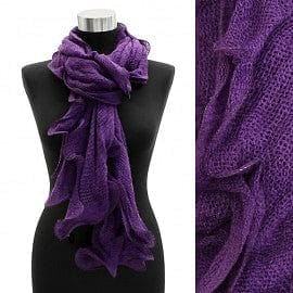 Ruffle Edged Scarf Purple - The Best Accessory