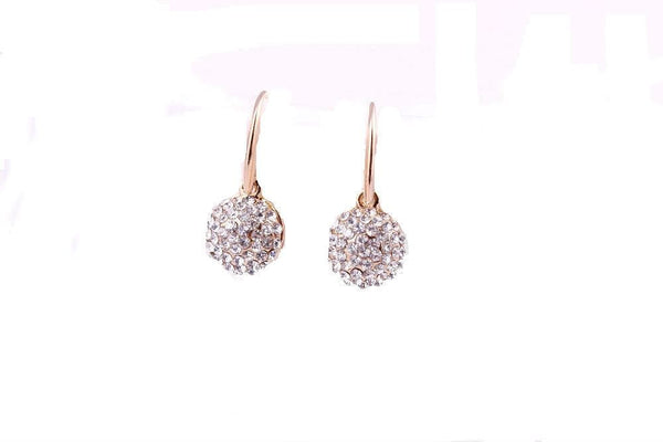 White Crystal Cherry Drop Earrings - The Best Accessory
