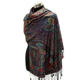Multi Colored Paisley Pattern Pashmina - The Best Accessory