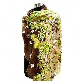 Flower and Antique Paisley Print Light Weight Pashmina - The Best Accessory