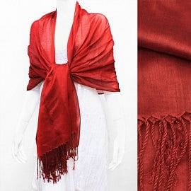 Shimmering Evening Shawl  - Red - The Best Accessory