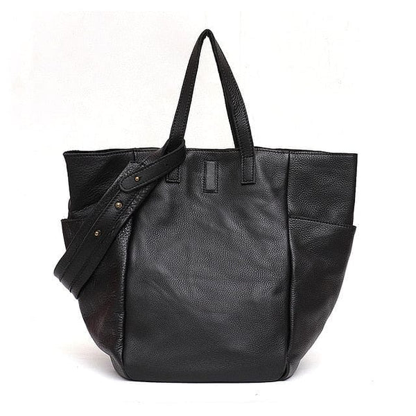 Vintage Luxury Genuine Leather Bucket / Tote Large Capacity Crossbody Handbag - The Best Accessory