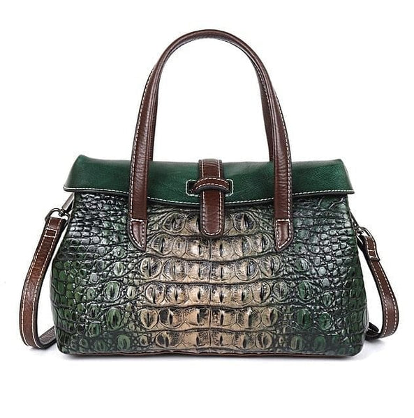 Johnature Handmade Embossing Genuine Leather Luxury Satchel/Crossbody Handbag - The Best Accessory