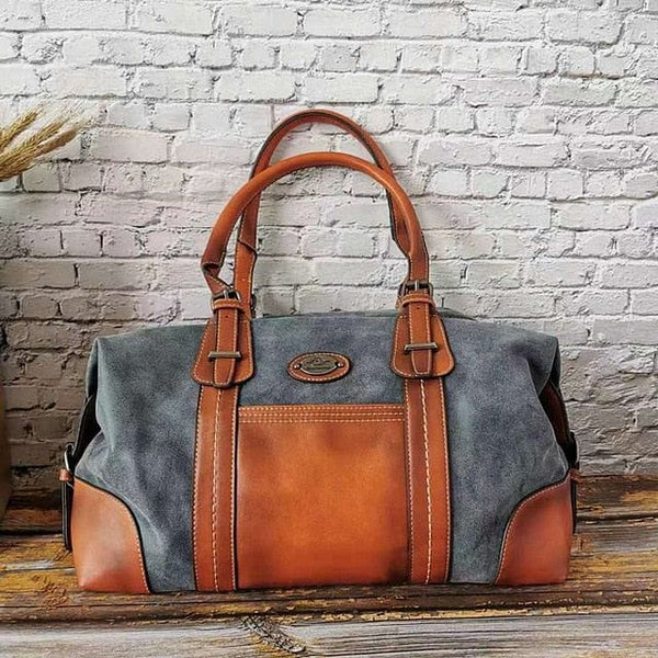 High Capacity Casual Luxury Genuine Leather Tote Travel Handbag