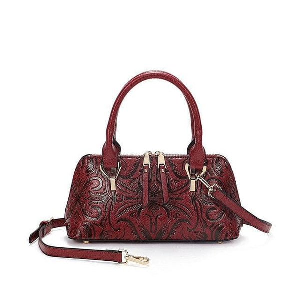 Vintaged Embossed Leather Handbag - The Best Accessory