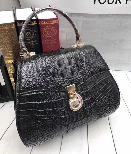 Genuine Alligator Leather Tote  Crossbody Shoulder Bag - The Best Accessory