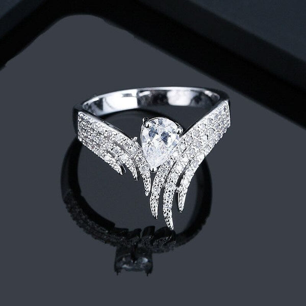 Finger Rings for Women Waterdrop Cubic Zirconia Rings - The Best Accessory