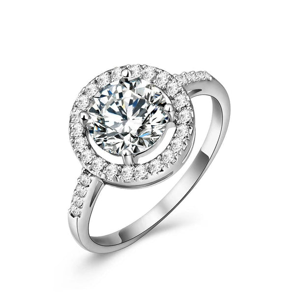 UMODE Luxury Cubic Zirconia Round Ring - The Best Accessory