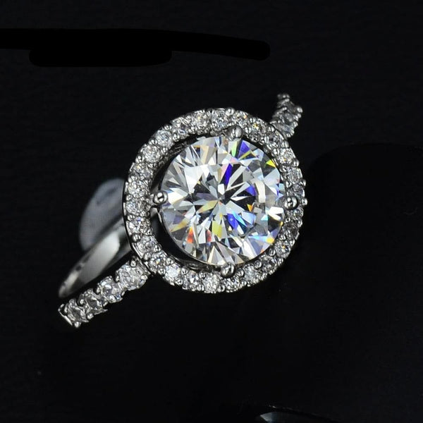 Hollow Round AAA+ 2ct Cubic Zirconia  Ring