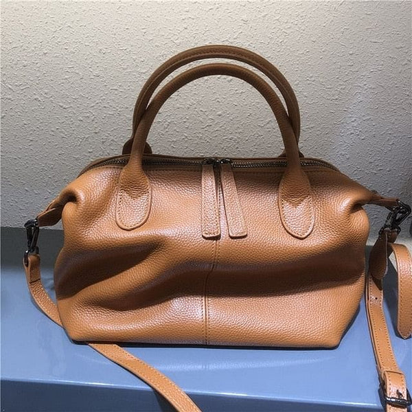 MESOUL Large Genuine Leather Casual Satchel Handbag - The Best Accessory
