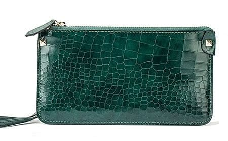 Green Crocodile Cow Leather Wallet  Phone Wallet - The Best Accessory