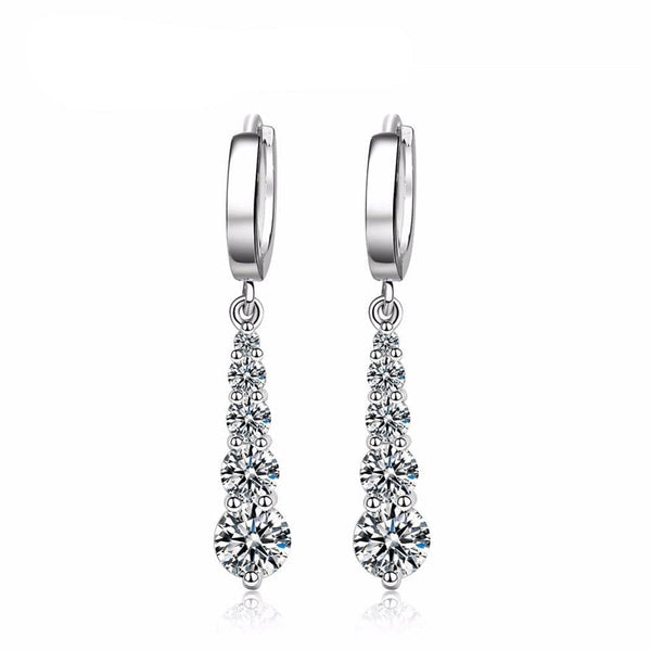 Water Drop Round CZ Drop Earrings - The Best Accessory