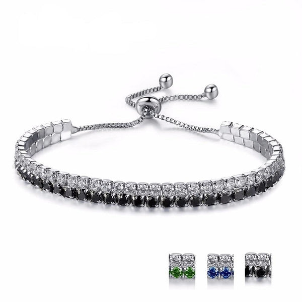 UMODE Trendy 3 Colors Fashions Charms Cubic Zirconia Tennis Bracelet & Bangles For Women Female Gifts New Luxury Jewelry UB0125