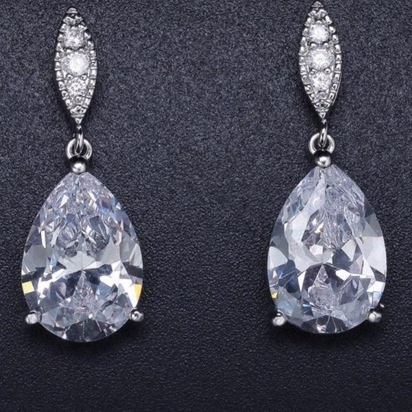 Water Drop Earrings  Cubic Zirconia
