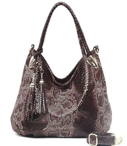 Serpentine Pattern  Luxury Shoulder Bags With Tassel Pendant  Messenger Handbags - The Best Accessory
