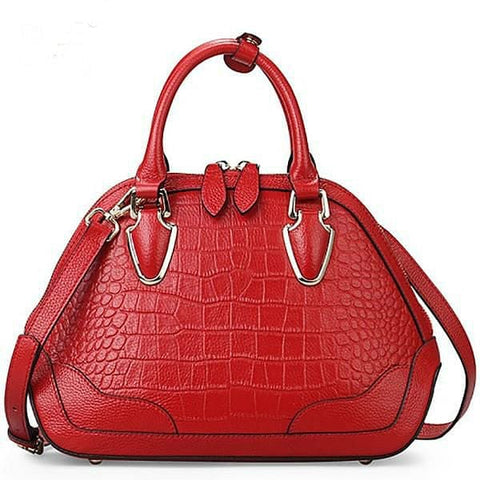 Red  Crocodile Pattern Leather Crossbody Bags - The Best Accessory