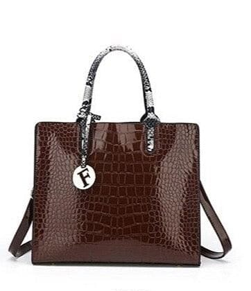 Classic Crocodile Leather Tote/ Shoulder Handbag