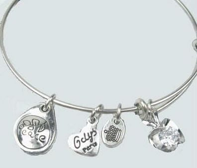 Silver Charm Bangle Bracelet - The Best Accessory  - 3
