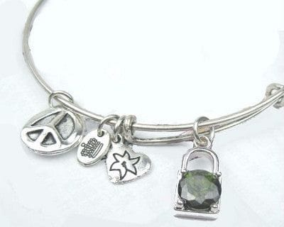 Silver Charm Bangle Bracelet - The Best Accessory  - 1