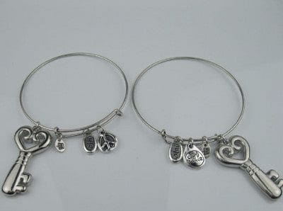 Silver Charm Bangle Bracelet - The Best Accessory  - 4