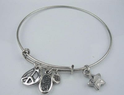 Silver Charm Bangle Bracelet - The Best Accessory  - 5
