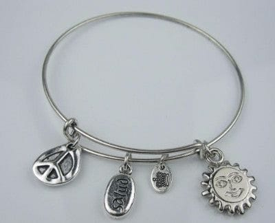 Silver Charm Bangle Bracelet - The Best Accessory  - 6