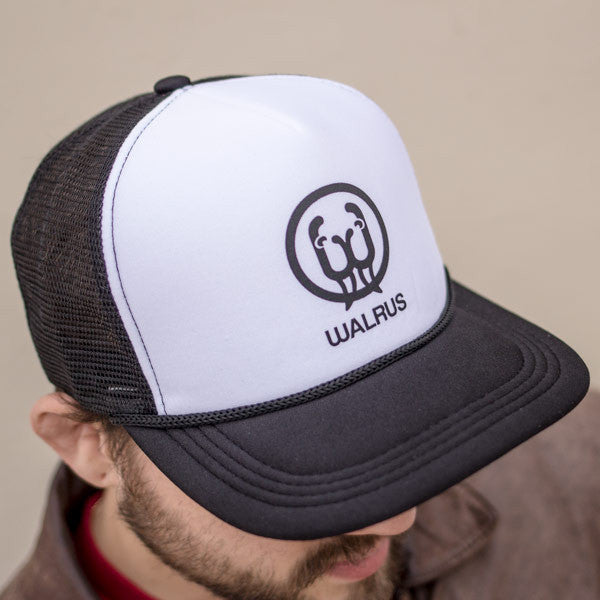 Black / White Panel Trucker Hat