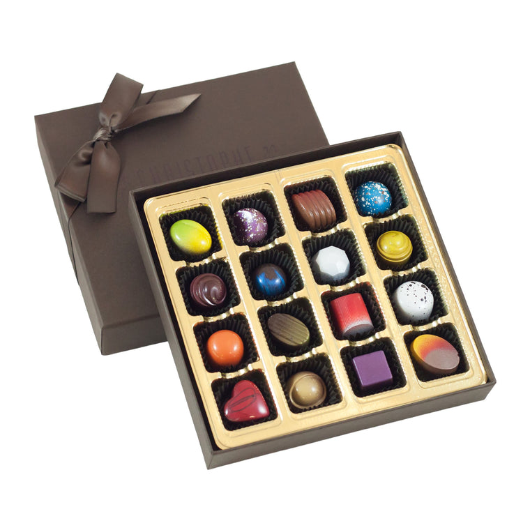 16 Piece Hand-Painted Chocolate Box