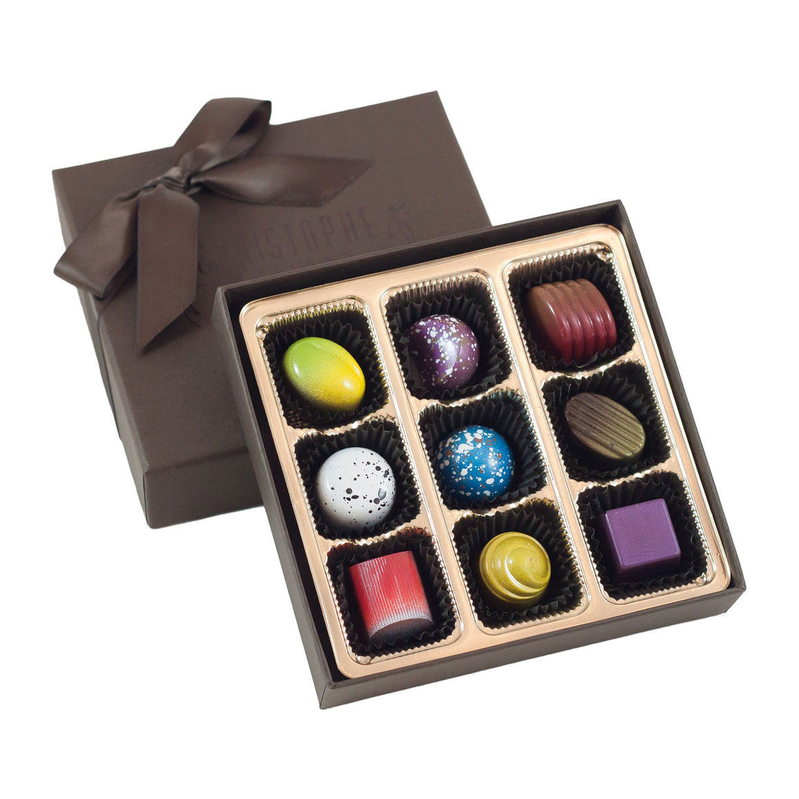 9 Piece Hand-Painted Chocolate Box