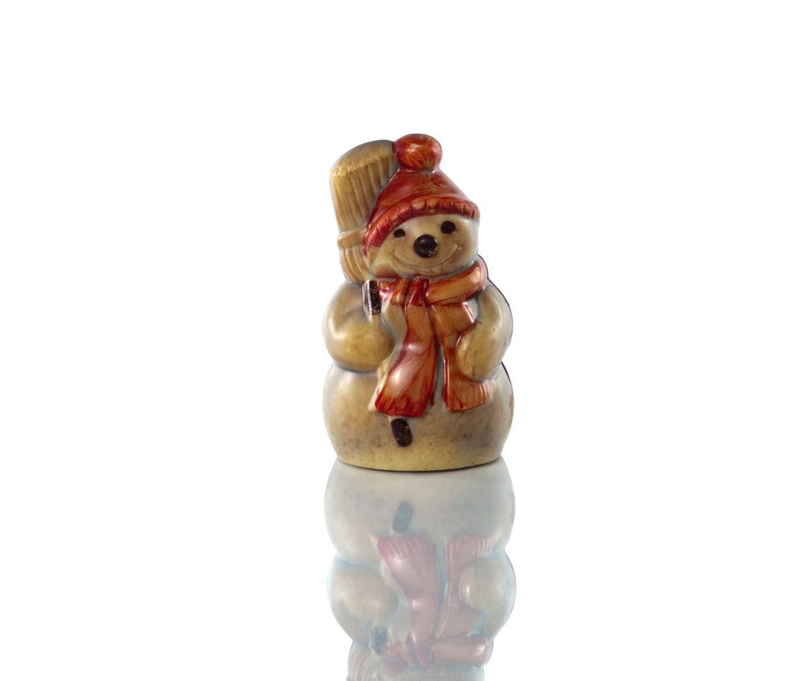 Hand-painted Chocolate Snowman