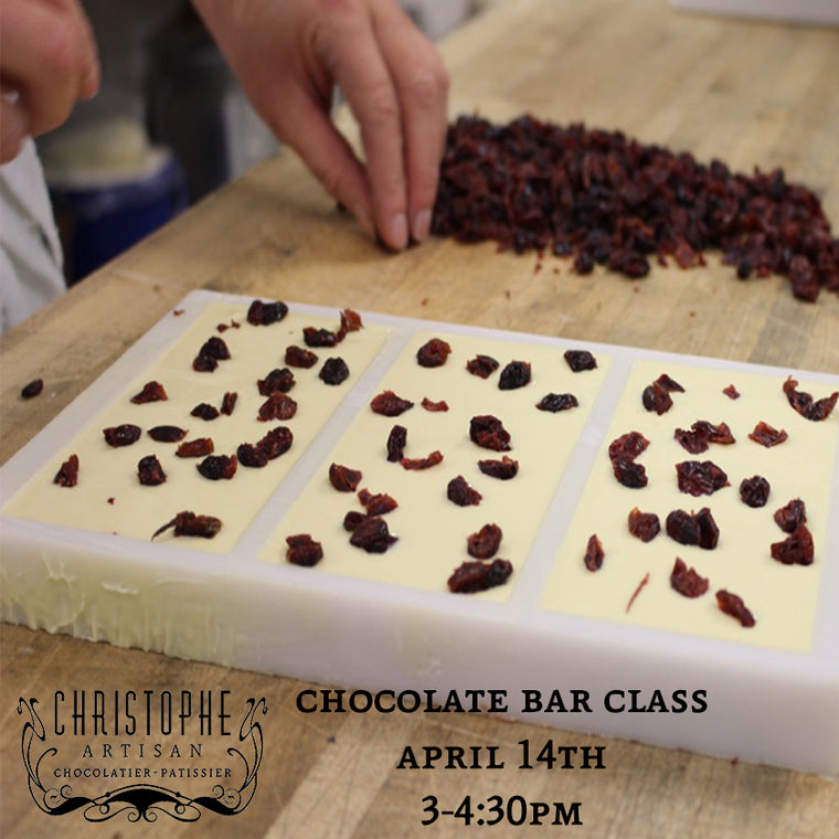 Chocolate Bar Class-April 14th 3-4:30pm