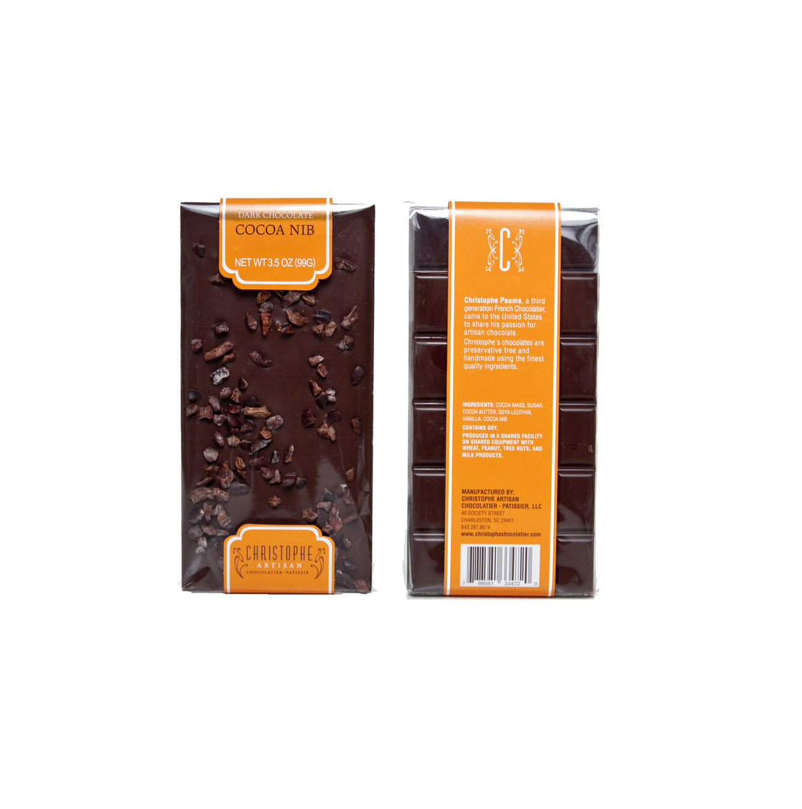 Dark Chocolate Cocoa Nib Bar