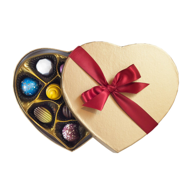 Gold Heart Box - 11 pieces