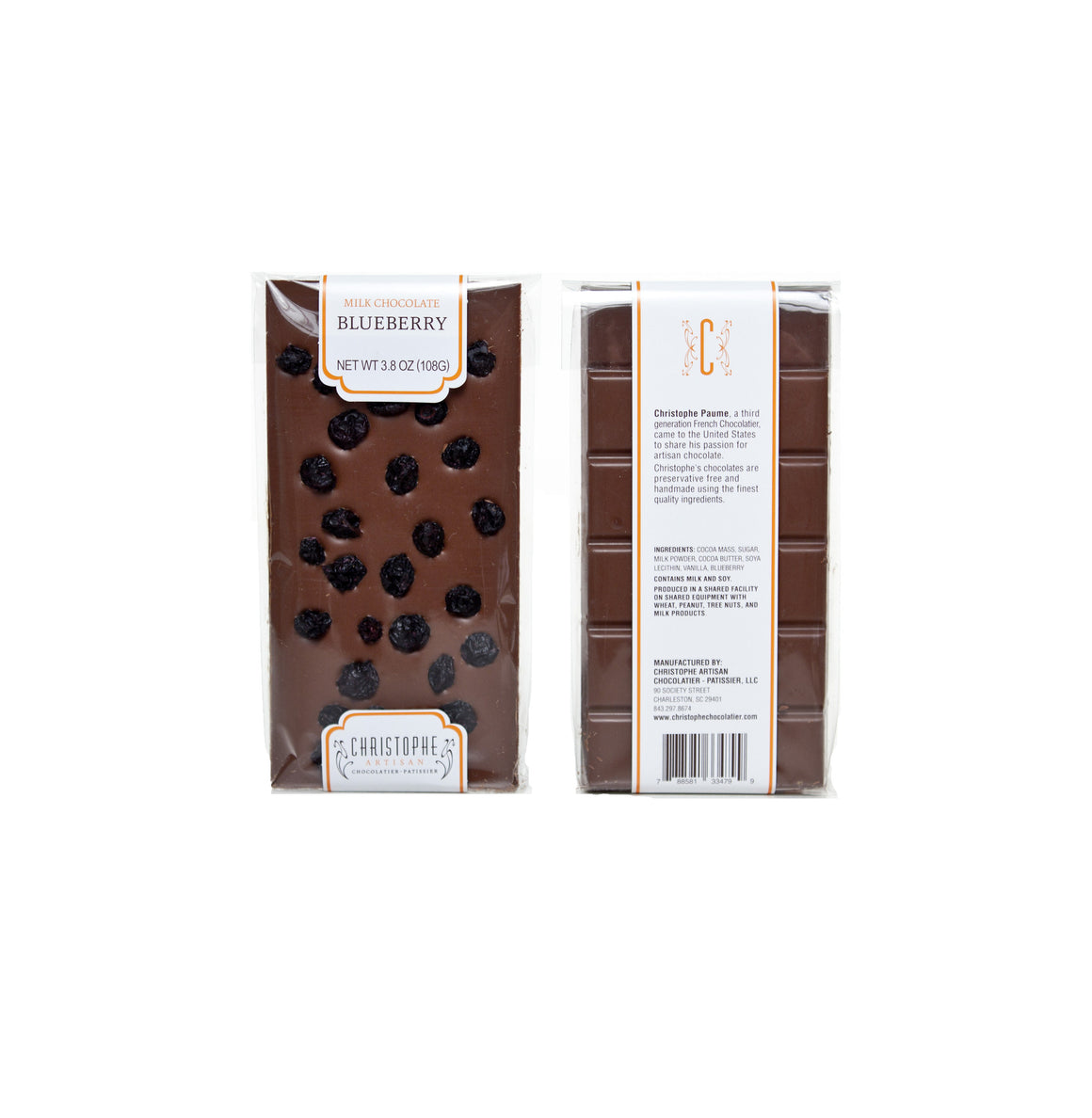 Milk Chocolate Blueberry Bar