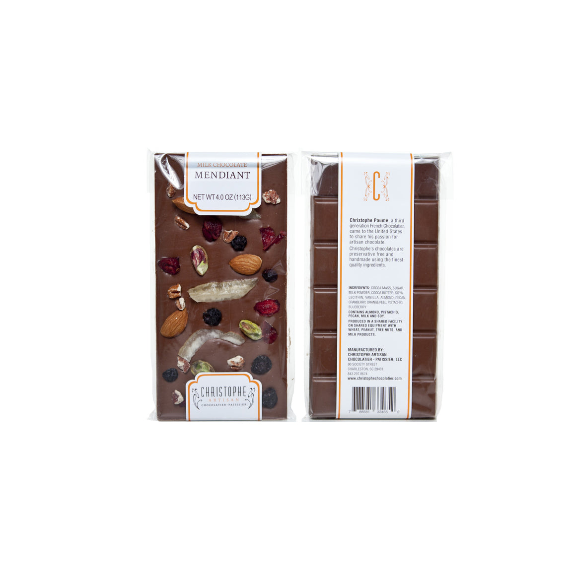 Milk Chocolate Mendiant Bar