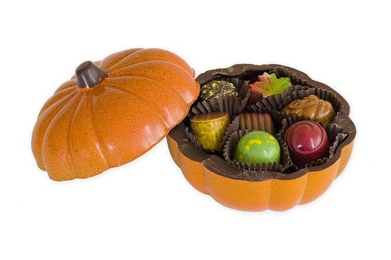 Hand-Painted Chocolate Pumpkin