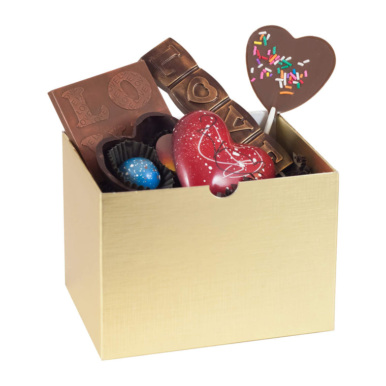 Gold Valentine Gift Box - Small