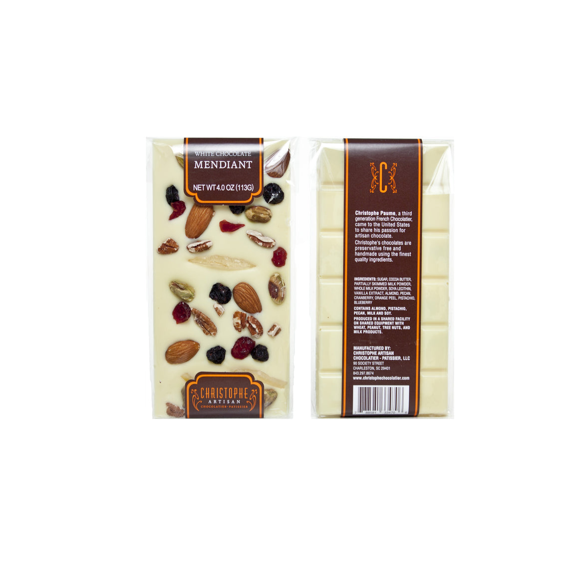 White Chocolate Mendiant Bar