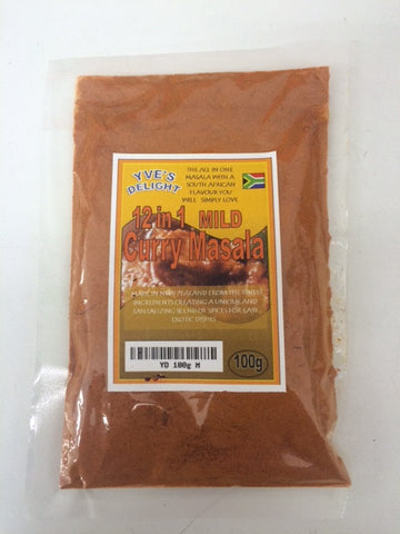 Yve's Mild Curry Masala 100g